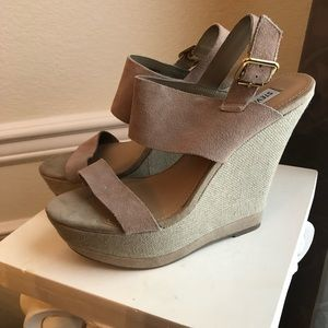 Steve Madden Faux Suede Wedges, Size 9.5
